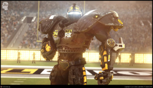 The NFL Robot and entire TV spectacle combine the things modern young men love - violence, football, and video games.